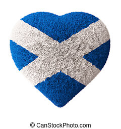 Flag of Scotland - Fluffy Heart