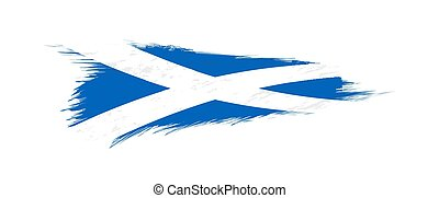 Flag of Scotland in grunge brush stroke.