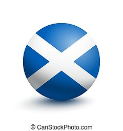 Flag of Scotland in the form of a ball