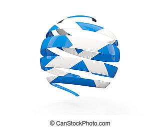 Flag of scotland, round icon