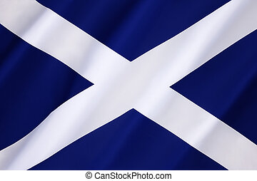 Flag of Scotland - Saltire - Flag of Scotland - also known...
