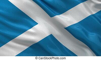 Flag of Scotland seamless loop - Flag of Scotland gently...