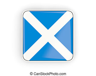 Flag of scotland, square icon