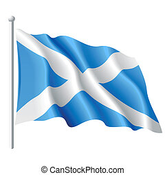 Flag of Scotland - Vector illustration of flag of Scotland