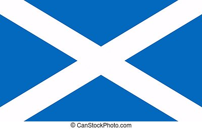Flag of Scotland. Vector illustration. World flag