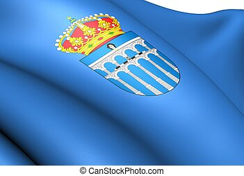 Flag of Segovia city, Spain.