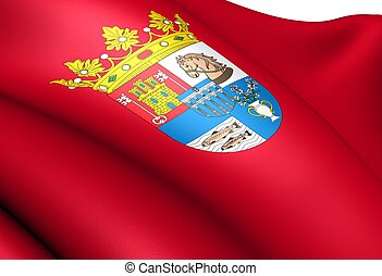 Flag of Segovia province, Spain.