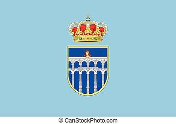 Flag of Segovia, Spain. Vector Format