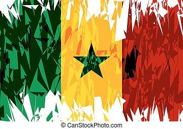 Flag of Senegal.