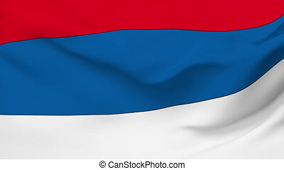 Flag of Serbia - Flag of the Serbia waving in the wind....