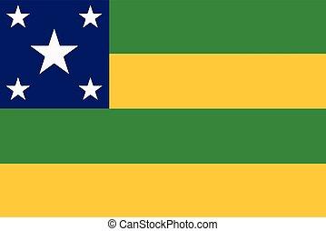 Flag of Sergipe State, Brazil. Vector Format