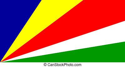 Flag of Seychelles, national country symbol illustration