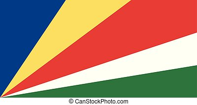 Flag of Seychelles. Vector illustration. World flag