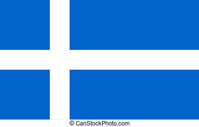 Flag of Shetland - symbol of the special Shetland identity...