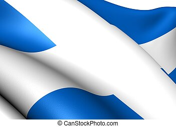 Flag of Shetland. Close up.