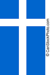 Flag of Shetland Vertical - Official Flag of Shetland Flat...