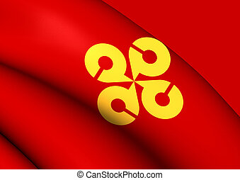Flag of Shimane Prefecture, Japan.