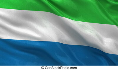 Flag of Sierra Leone seamless loop - Flag of Sierra Leone...