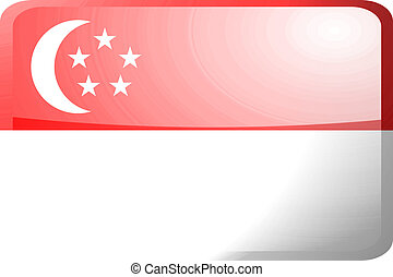 Flag of Singapore button