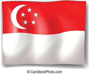 Illustration of the flag of Singapore on a white background