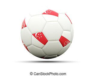 Flag of singapore on football