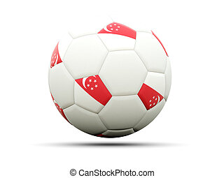 Flag of singapore on football