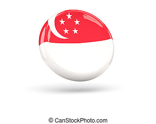 Flag of singapore. Round icon