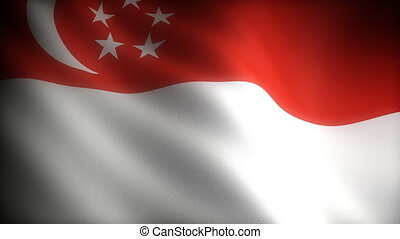 Flag of Singapore (seamless)