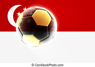 Flag of Singapore soccer