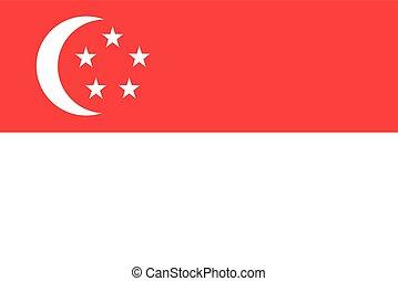 Flag of Singapore vector illustration