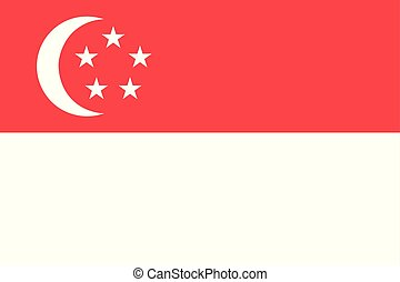 Flag of Singapore. Vector illustration. World flags