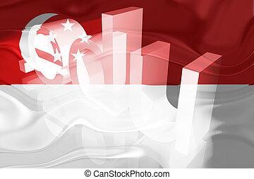 Flag of Singapore wavy education
