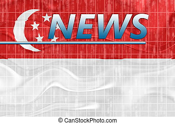 Flag of Singapore wavy news