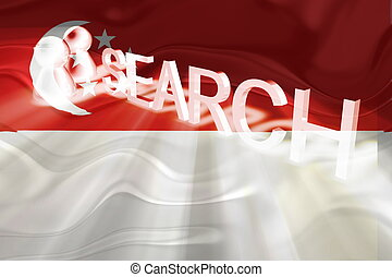 Flag of Singapore wavy search