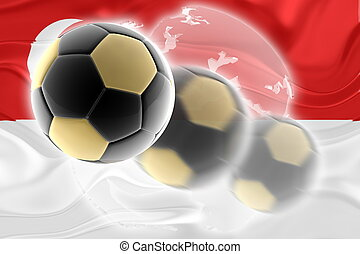 Flag of Singapore wavy soccer website