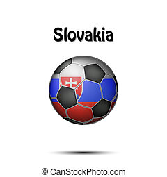 Flag of Slovakia in the form of a soccer ball