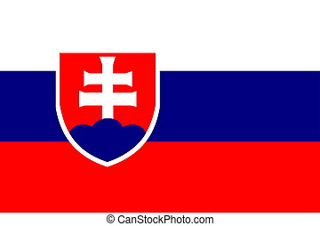 Flag of Slovakia, national country symbol illustration