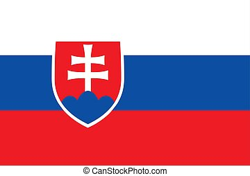 Flag of Slovakia official colors and proportions