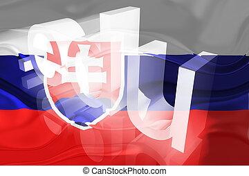 Flag of Slovakia wavy education - Flag of Slovakia, national...