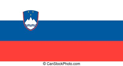 Flag of Slovenia in correct proportions and colors