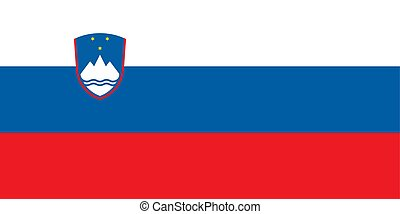 Flag of Slovenia official colors and proportions