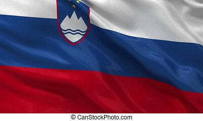 Flag of Slovenia - seamless loop - Flag of Slovenia gently...