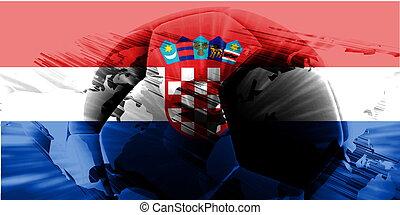 Flag of soccer
