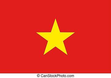 Flag of Socialist Republic of Vietnam.
