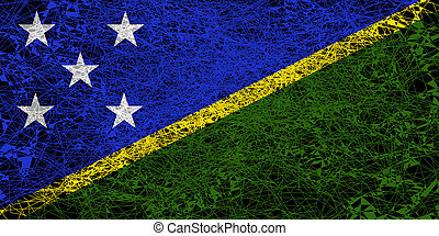 Flag of Solomon Islands.