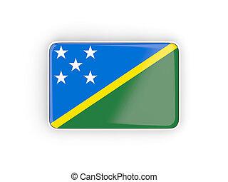 Flag of solomon islands, rectangular icon
