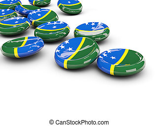 Flag of solomon islands, round buttons
