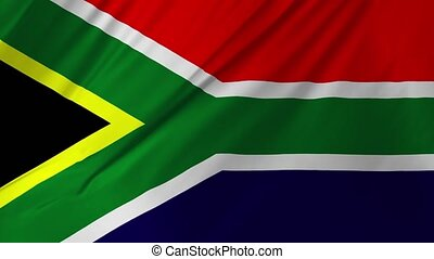 Flag of South Africa gently waving in the wind 2 in 1