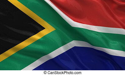 Flag of South Africa seamless loop