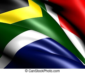 Flag of South Africa. Close up.